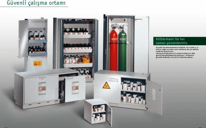 laboratuvar güvenliği, laboratuvarda dikkat edilecek güvenlik önlemleri, kimyasal madde dolabı